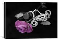 Petals and Pearls, Canvas Print