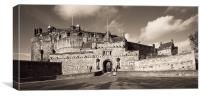 Edinburgh Castle Entrance Sepia 03, Canvas Print