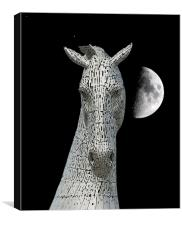 Lunar Kelpie, Canvas Print