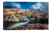 Clunie waters near Glenshee, Canvas Print