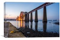 Forth Rail Bridge in the evening, Canvas Print