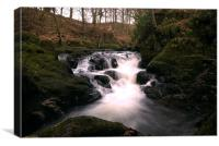 Lower falls, Rumbling Bridge, Canvas Print