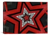 red star, Canvas Print