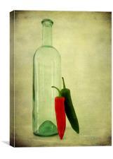 unbottled chillies, Canvas Print