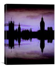 Purple London, Canvas Print
