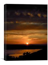 Roseland sunset, Canvas Print