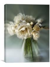 white rose posy, Canvas Print