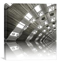 airport reflections, Canvas Print