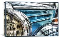 vintage blue mercedes 2, Canvas Print