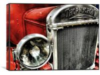 vintage fire engine, Canvas Print
