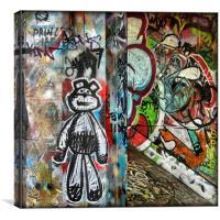 graffiti ted, Canvas Print