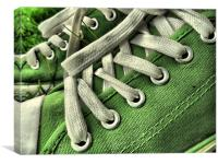 green sneakers, Canvas Print