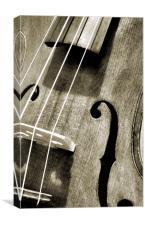 vintage violin, Canvas Print