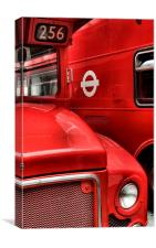 London buses, Canvas Print