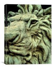 stone lion, Canvas Print