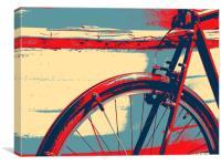 bike and boat, Canvas Print