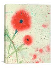 poppy interrupted, Canvas Print