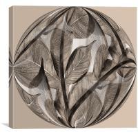 Sepia leaf globe, Canvas Print