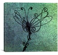 glass dragonfly, Canvas Print