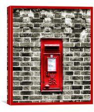 postbox, Canvas Print