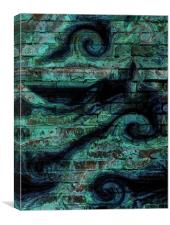 sea wall, Canvas Print