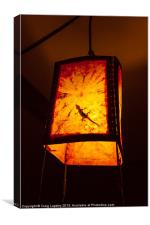 Gecko in a lightshade, Canvas Print