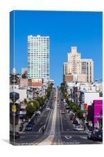 San Francisco street scene, Canvas Print