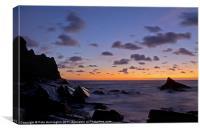 Sunset at Scrade - N Cornwall, Canvas Print