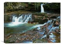 Waterfall in the Brecon Beacons, Canvas Print