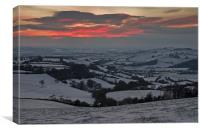 Snow in the Exe valley, Canvas Print