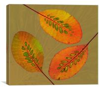 Patterned Leaves II, Canvas Print