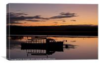 Exe Estuary and ferry boat, Canvas Print