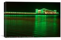 Weston Pier, Canvas Print