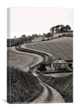 Rural Devon, Canvas Print