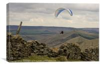 Paraglider over Rushup Edge