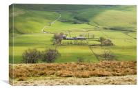 Hill Farm in the Peak district, Canvas Print