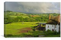 Farm scene, Canvas Print