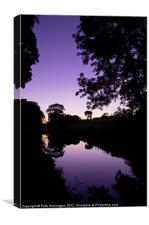 Tiverton Canal, Canvas Print
