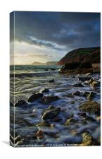 Salcombe Mouth Near Sidmouth, Canvas Print