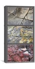 Cornish rock triptych, Canvas Print