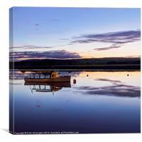 Topsham Ferry at dusk., Canvas Print