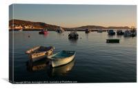 Dawn at Lyme Regis, Canvas Print