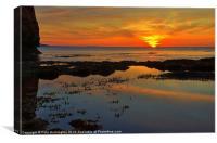 Sunrise at Ladram bay, Canvas Print