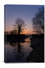 Dawn on the Grand Western Canal, Canvas Print