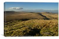 Dartmoor view from Steeperton Tor, Canvas Print