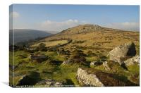 Chinkwell Tor and Bell Tor, Canvas Print