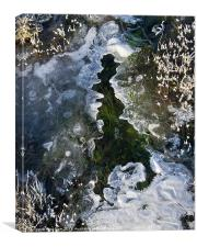Icy shape - resembling UK, Canvas Print