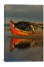 Fishing boat at Crow Point, Canvas Print