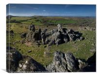 Hound Tor on Dartmoor, Canvas Print