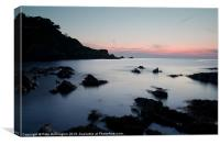 Lee Bay sunset, Canvas Print